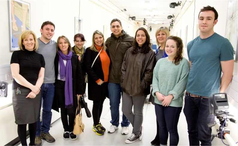 Brazilian visitors at IMAR Sports Lab, TORT Centre