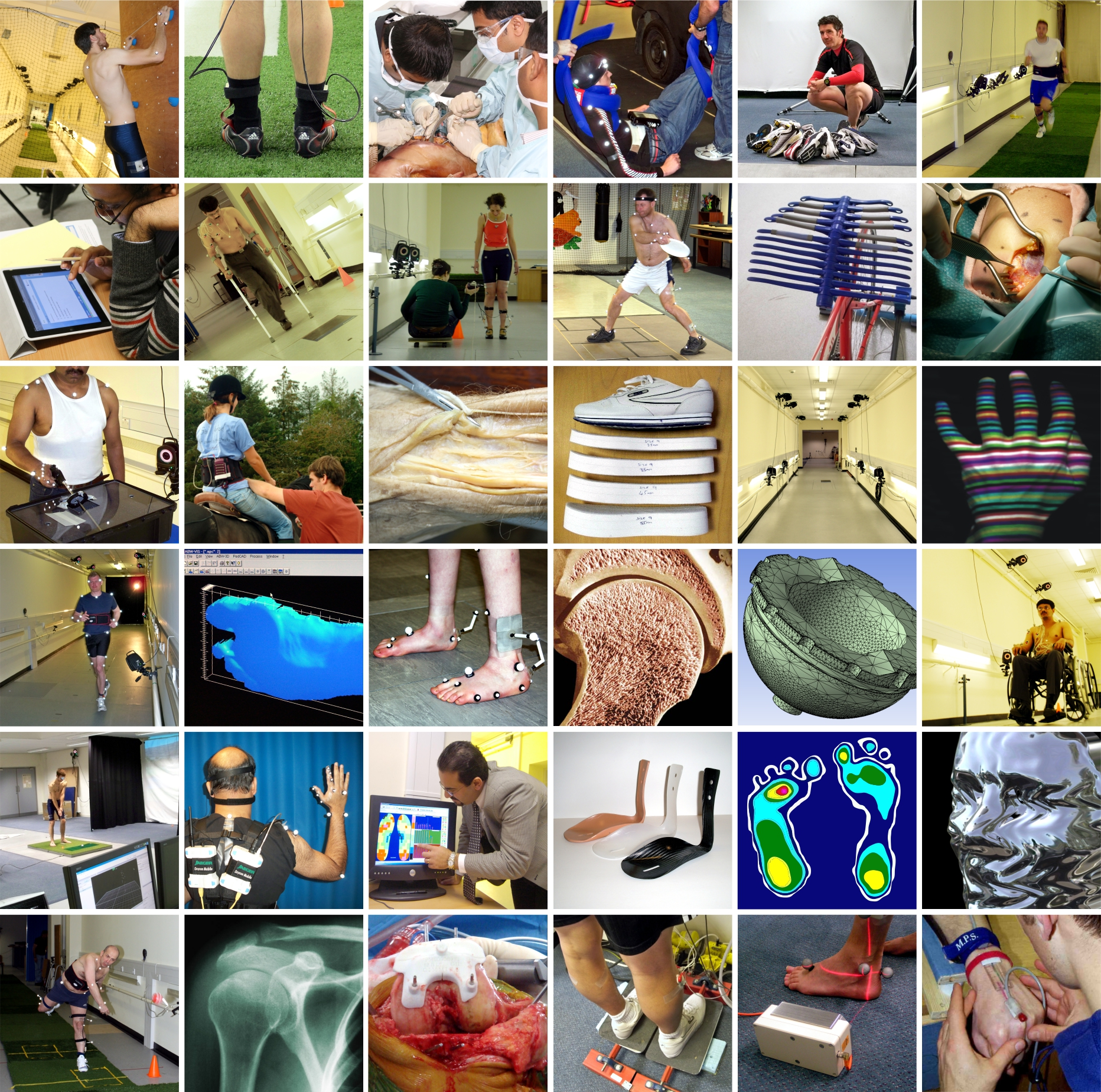 Collage of images representing collaborations
