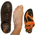 Published research on rock climbing footwear