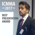 PhD student wins Best Presentation Award at ICMMA 2017