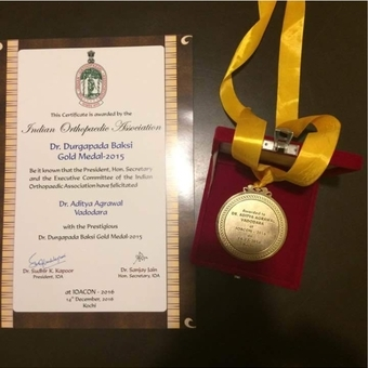 Gold medal award for MCh graduate